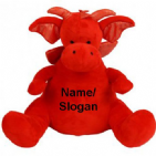 Personalised Zippie Red Dragon  Teddy Bear